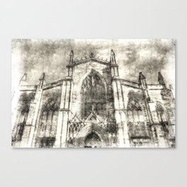 St Giles Cathedral Edinburgh Vintage Canvas Print