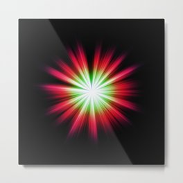 coloures sun burst Metal Print