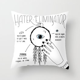 Hater Eliminator - How To Throw Pillow