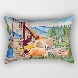 BETHLEHEM PROSPECTUS 1 (Painted Shed) Rectangular Pillow