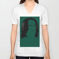 snape V-neck T-shirts featuring Snape and you by Ally Simmons