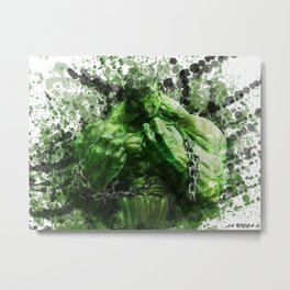 Green Hero Metal Print