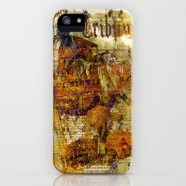 The departure of the Sicilian mailman iPhone Case