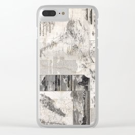 Map of Macao, Hong Kong and Pearl River Estuary - 1834 Clear iPhone Case