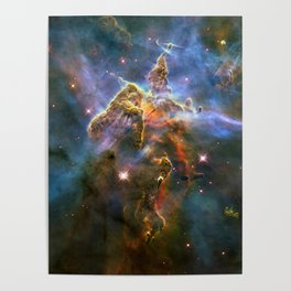 Mystic Mountain (a region in the Carina Nebula)(NASA/ESA Hubble Space Telescope) Poster
