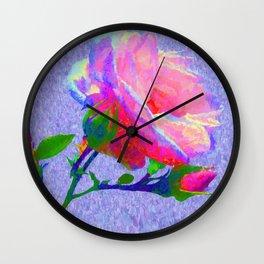 New Dawn Climbing Rose Painterly Wall Clock