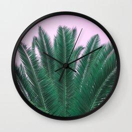 Sunset Palm Wall Clock