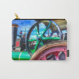 Clayton and Shuttleworth Traction Engine Art Carry-All Pouch