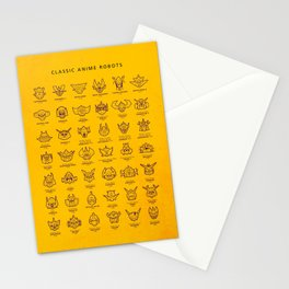 071 70s Robots Stationery Cards