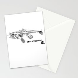 Under the boat Stationery Cards