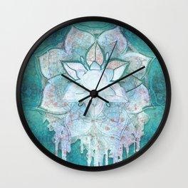 Turq Mandala Wall Clock