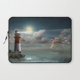 Lighthouse Under Back Light Laptop Sleeve