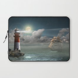 Lighthouse Under Back Light Laptop Sleeve
