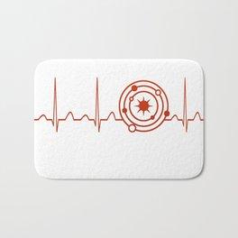 Astrophysicist Heartbeat Bath Mat