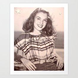 Norma Jean Baker Art Print