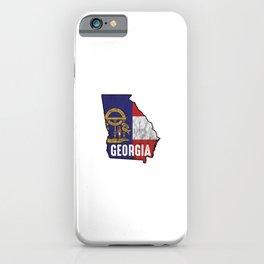 Patriotic Georgia Flag Nationalism United States Of America  iPhone Case