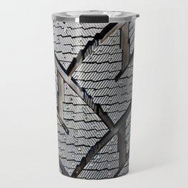 Background pattern winter stud tire Travel Mug