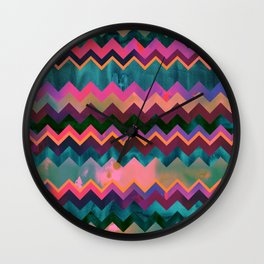Lido West Chevron Wall Clock