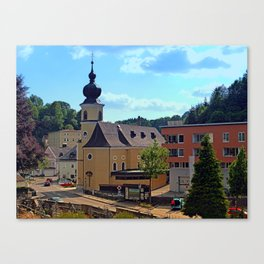 The village church of Helfenberg II   architectural photography Canvas Print