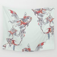 huebucket Wall Tapestries featuring Floating in Deep by Huebucket