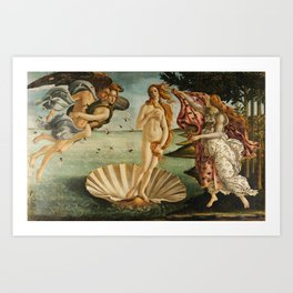 The Birth of Venus - Nascita di Venere by Sandro Botticelli Art Print