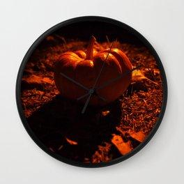 Lonely pumpkin Wall Clock