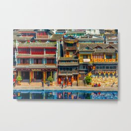 Fenghuang - Ancient Chinese town Metal Print