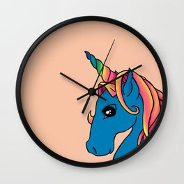 Rainbow Nursery Unicorn Wall Clock