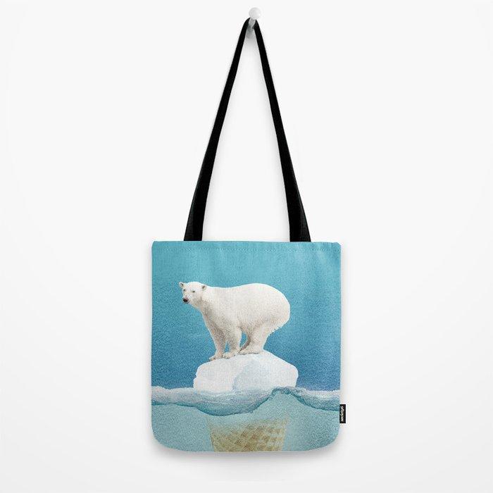 Polar ice cream cap Tote Bag