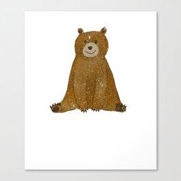 Cute Bear I Love You Like No Otter Funny Canvas Print