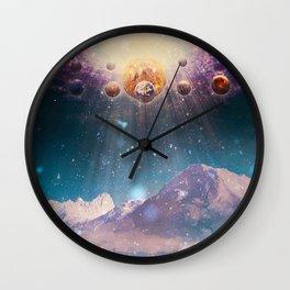 Descending worlds Wall Clock