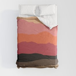 Abstract Mountains and Hills Comforters