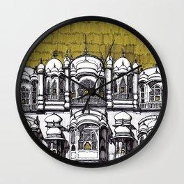 Hawa Mahal (Olive) Wall Clock