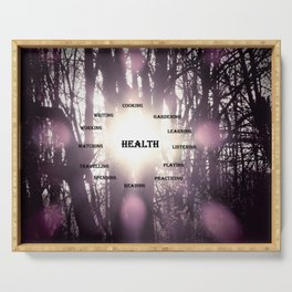 Best Activities Physical Mental Health Purple Sun Serving Tray