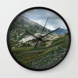 Mountains of Switzerland - Greina High Plain Granite Formation Wall Clock