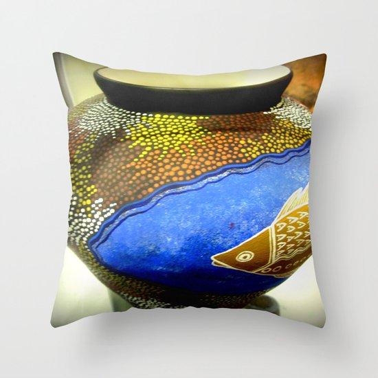 Aboriginal Art #2 - Pottery Throw Pillow