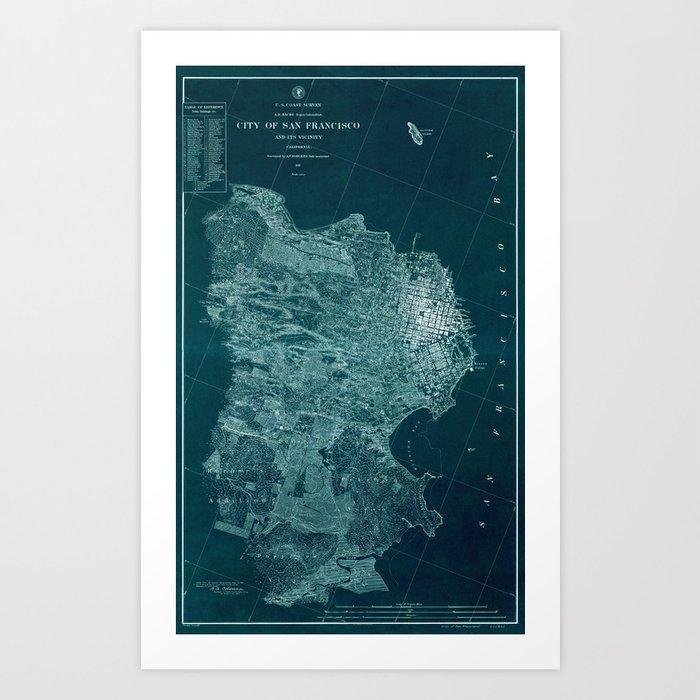 Map Of San Francisco 1857 Kunstdrucke