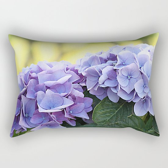 Purple hydrangea(1). Rectangular Pillow