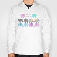 equality Hoodies featuring Equality Elephants by Jessica Latham