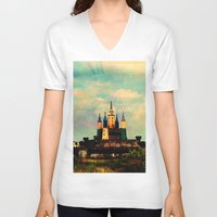 once upon a  time V-neck T-shirts featuring Once Upon a Time by Forgotten Beauty