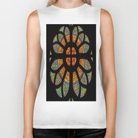 stained glass Biker Tanks featuring stained glass by Joshua Arlington