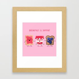 Breakfast Is Jammin' Framed Art Print