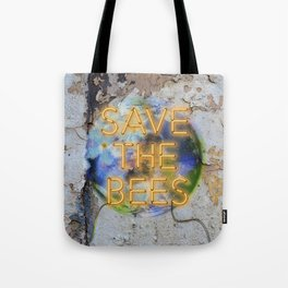 Save the Bees - Neon Tote Bag