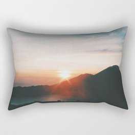 On top of Mount Batur Rectangular Pillow
