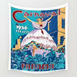 Vintage poster - Panama Wall Tapestry