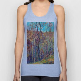 Franklin Carmichael Silvery Tangle Unisex Tank Top