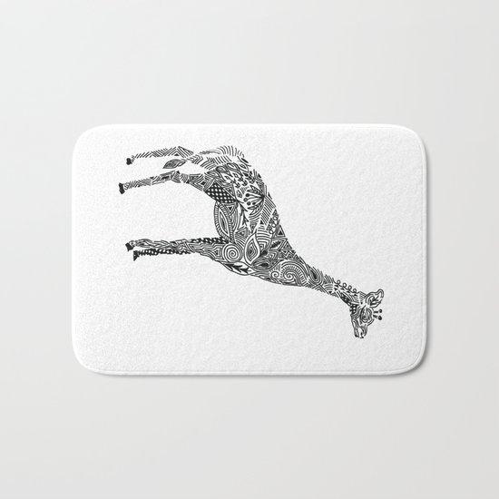 Designer Giraffe Bath Mat