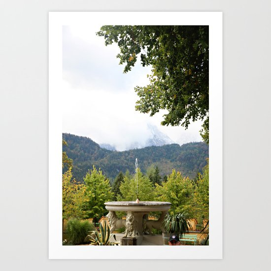 Fountain in the Mountains Art Print