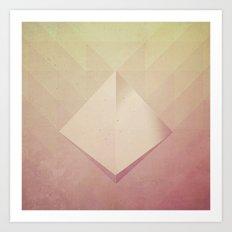 Suspended Pyramid Art Print