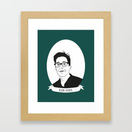 Alison Bechdel Illustrated Portrait Framed Art Print